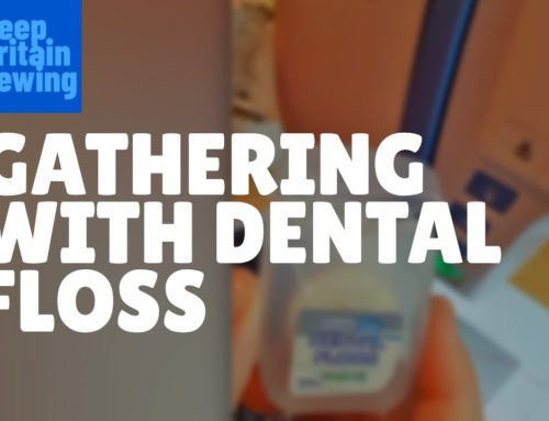 How to gather fabric with dental floss